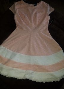 Tweeze Me Pink and White Dress